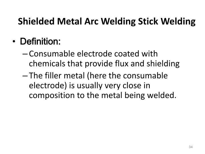 Shielded Metal Arc Welding Stick Welding
