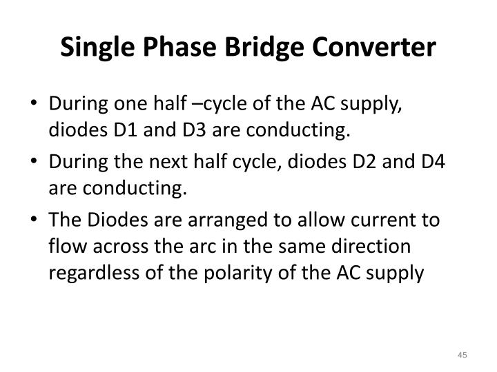 Single Phase Bridge Converter