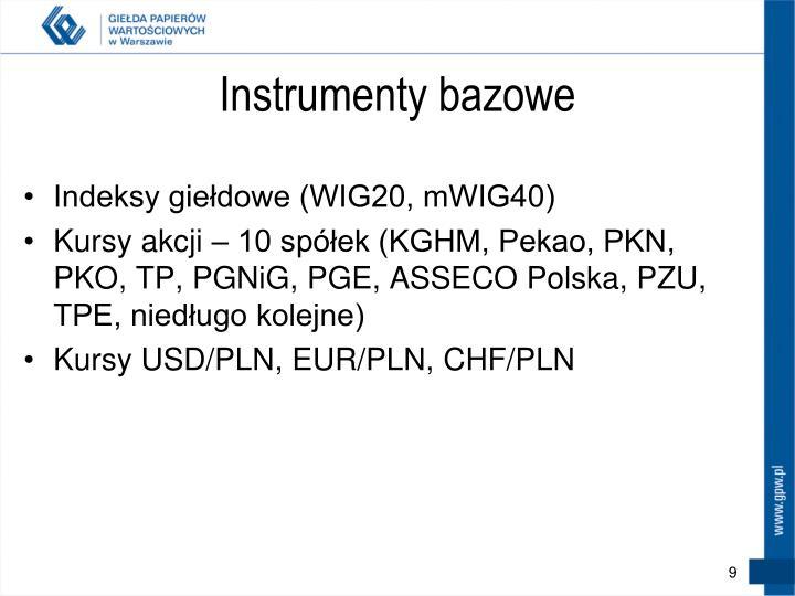 Instrumenty bazowe