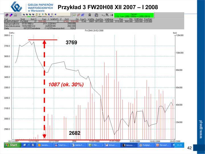Przykład 3 FW20H08 XII 2007 – I 2008