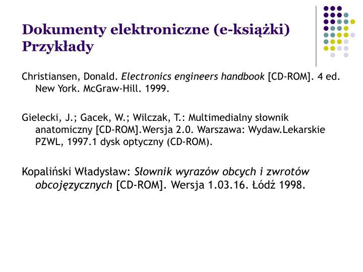Dokumenty elektroniczne (e-książki)