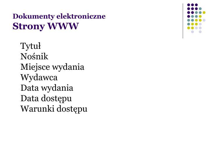 Dokumenty elektroniczne