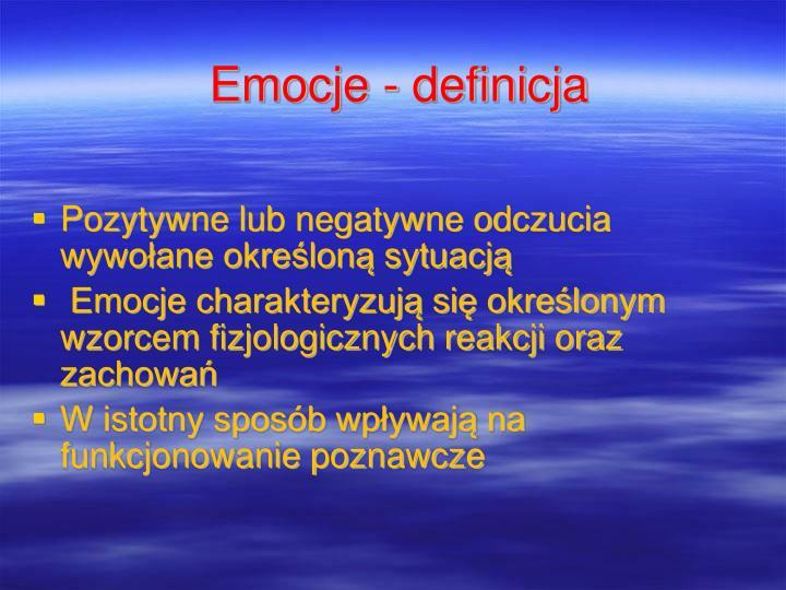 Emocje - definicja