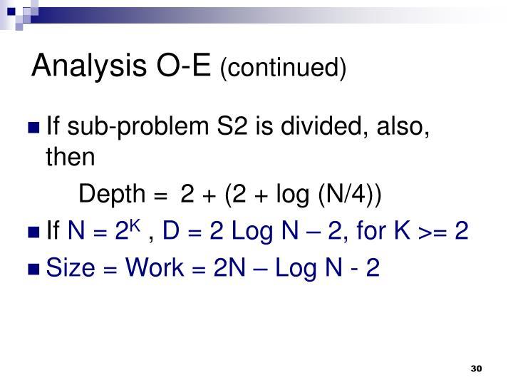 Analysis O-E
