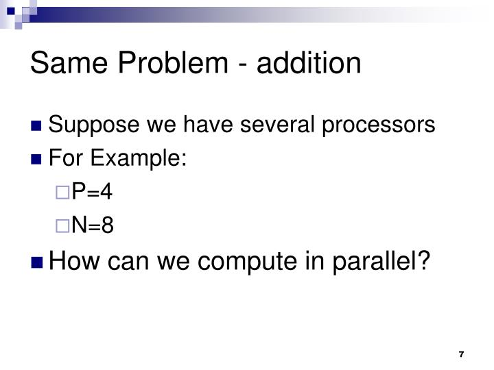Same Problem - addition