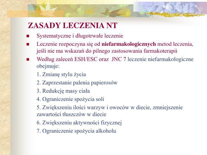 ZASADY LECZENIA NT