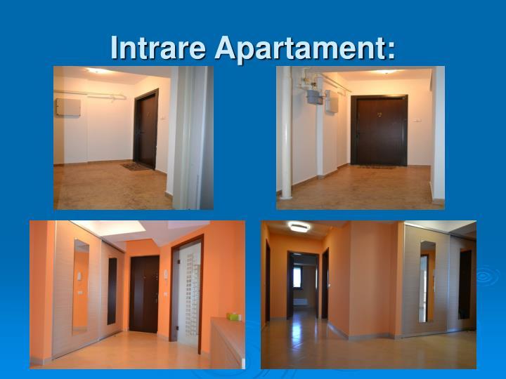 Intrare Apartament: