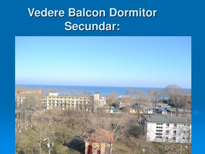 Vedere Balcon Dormitor Secundar: