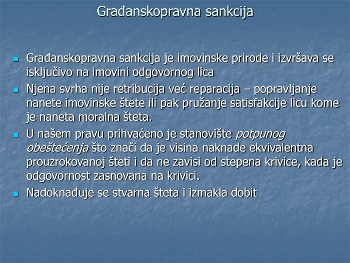 Građanskopravna sankcija