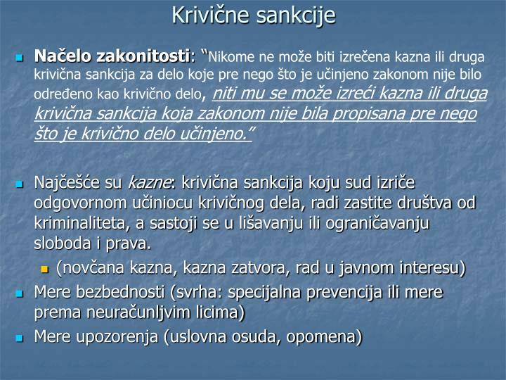 Krivične sankcije