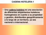 cadena hotelera 1