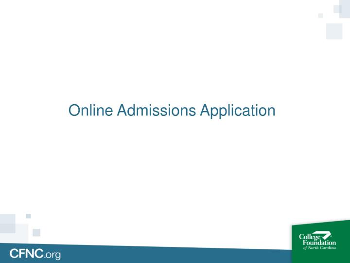 Online Admissions Application