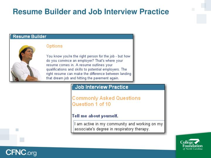 Resume Builder and Job Interview Practice