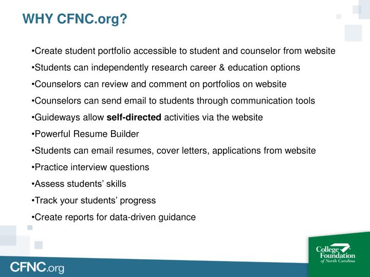 WHY CFNC.org?