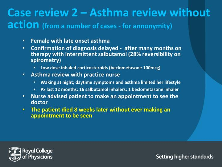 Case review 2 – Asthma review without action