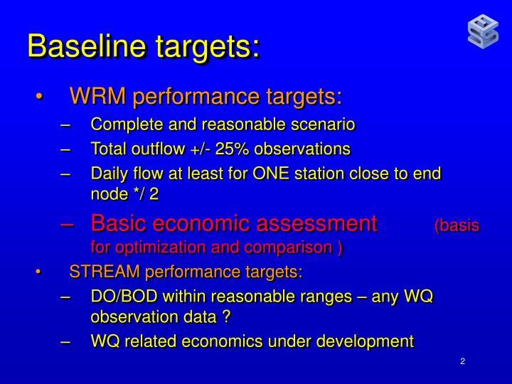 Baseline targets: