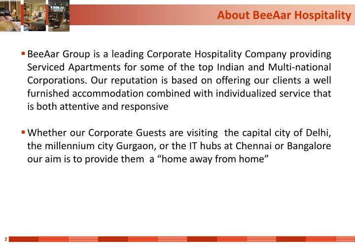 About beeaar hospitality