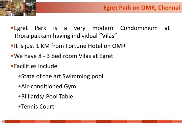 Egret Park on OMR, Chennai