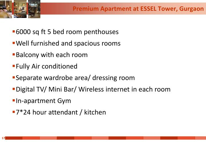 Premium Apartment at ESSEL Tower, Gurgaon