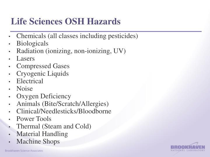 Life Sciences OSH Hazards
