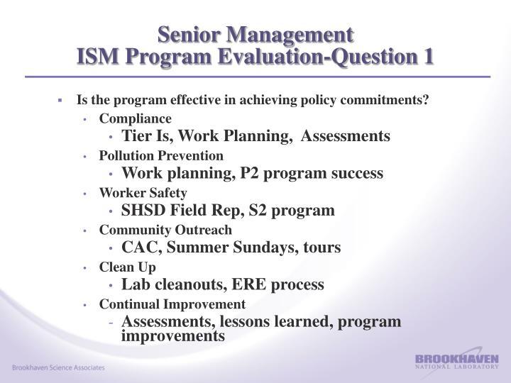 Senior Management
