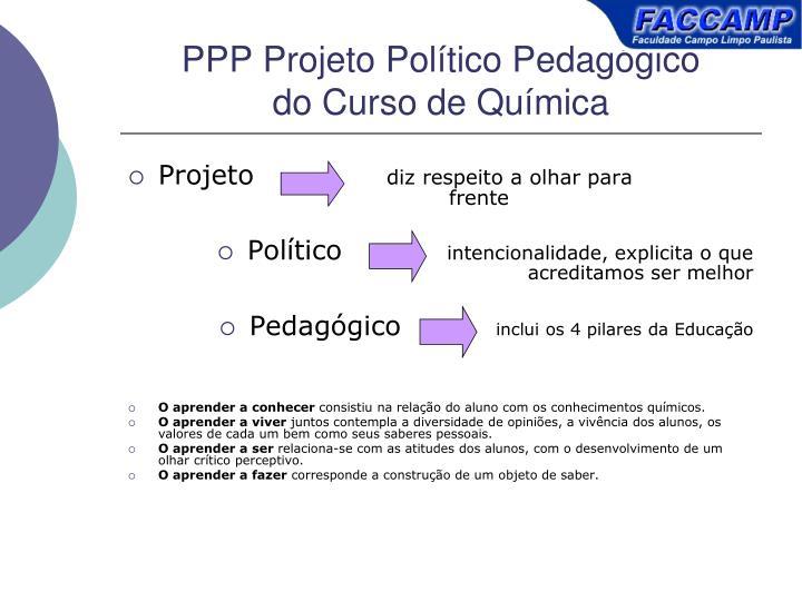 PPP Projeto Poltico Pedaggico