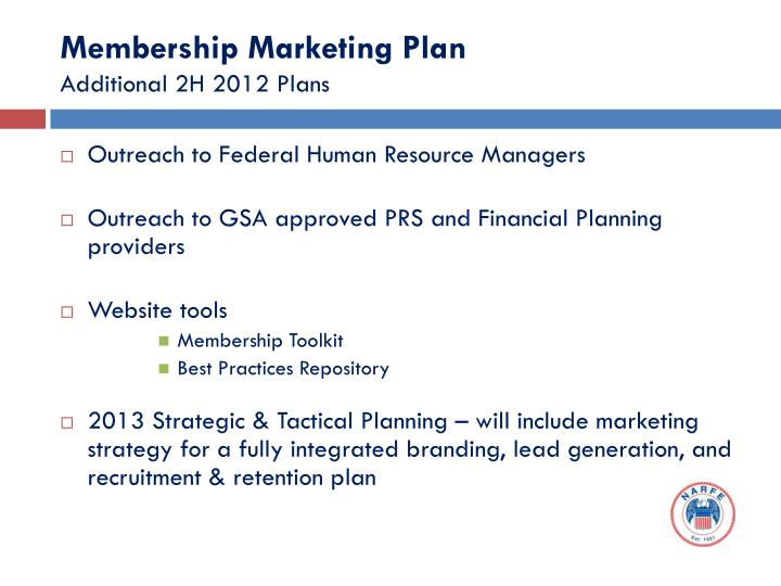 Membership Marketing Plan