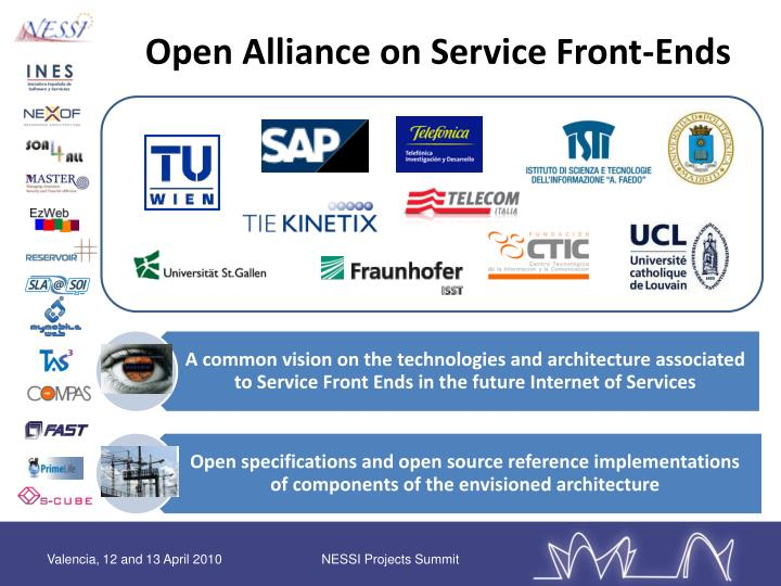 Open Alliance on Service Front-Ends
