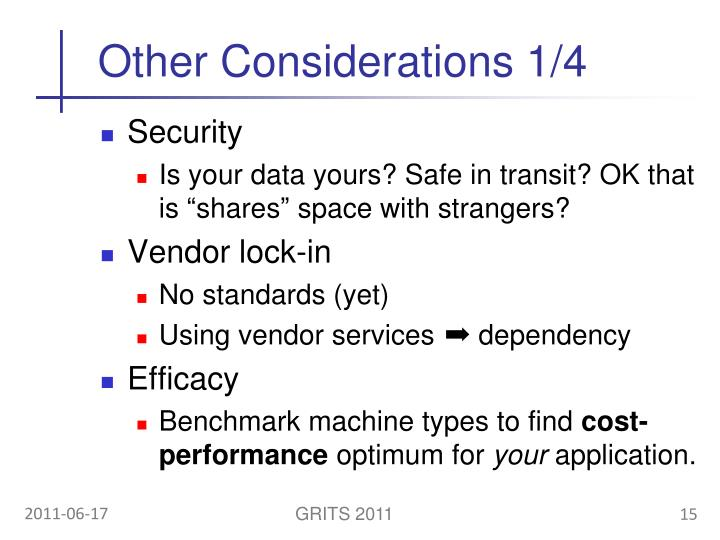 Other Considerations 1/4