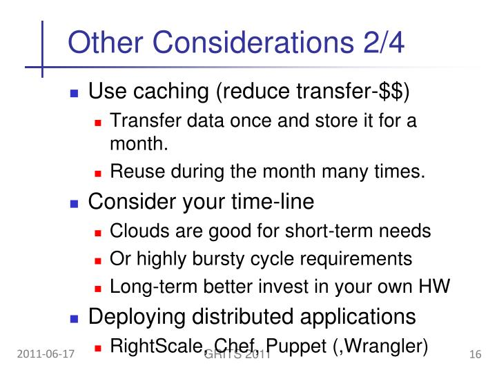 Other Considerations 2/4