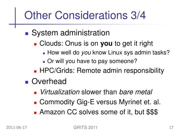 Other Considerations 3/4