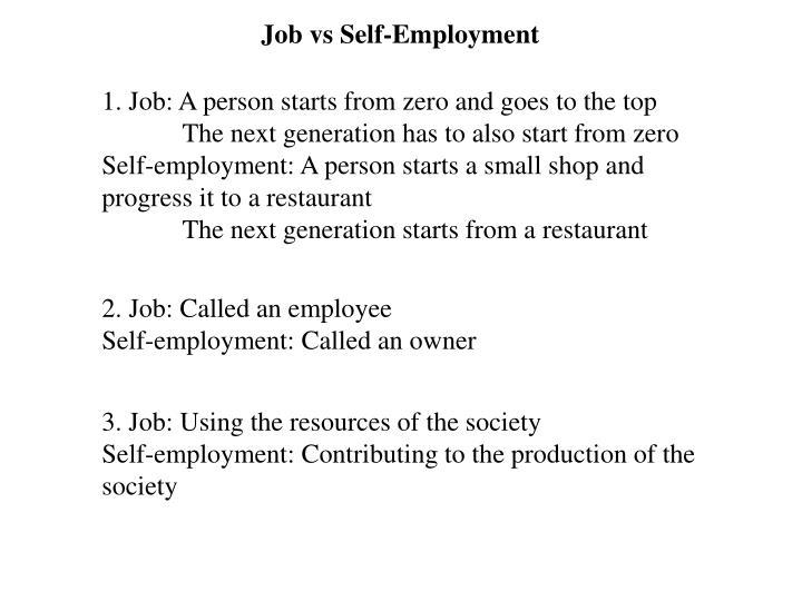 Job vs Self-Employment