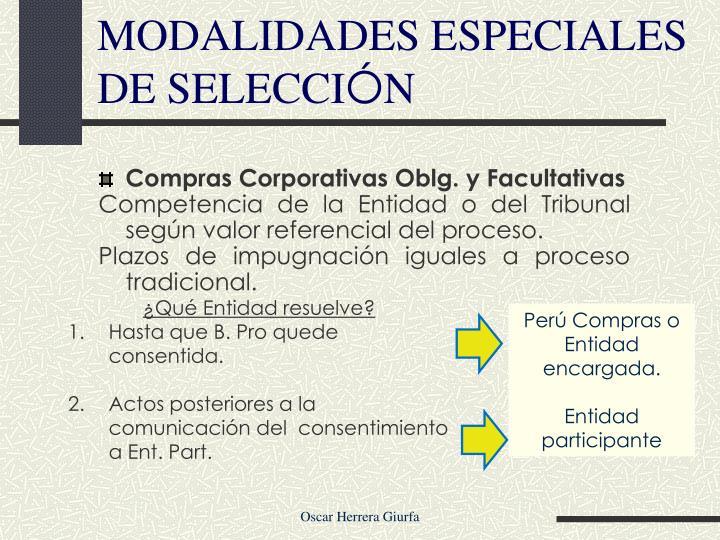 Compras Corporativas Oblg. y Facultativas