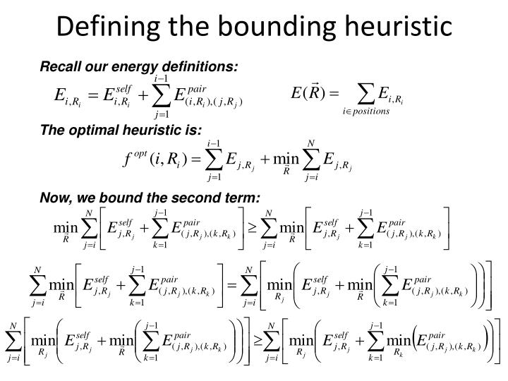 Defining the bounding heuristic