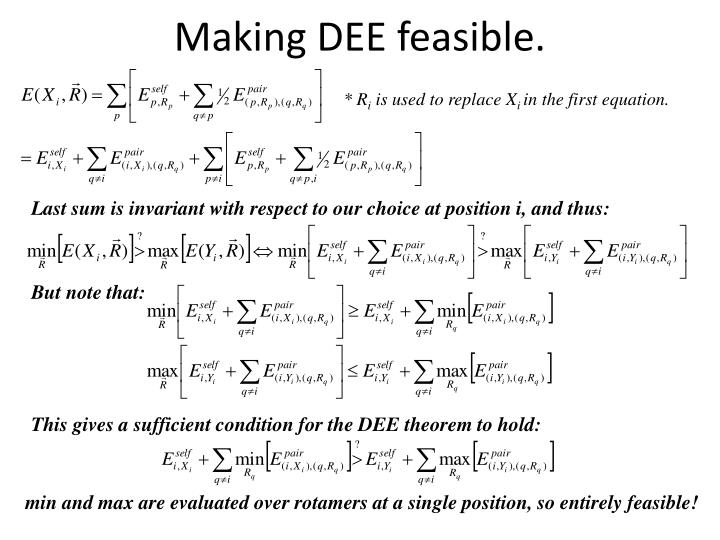 Making DEE feasible.