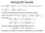 making dee feasible