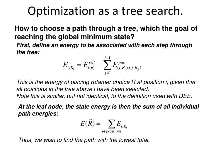 Optimization as a tree search.