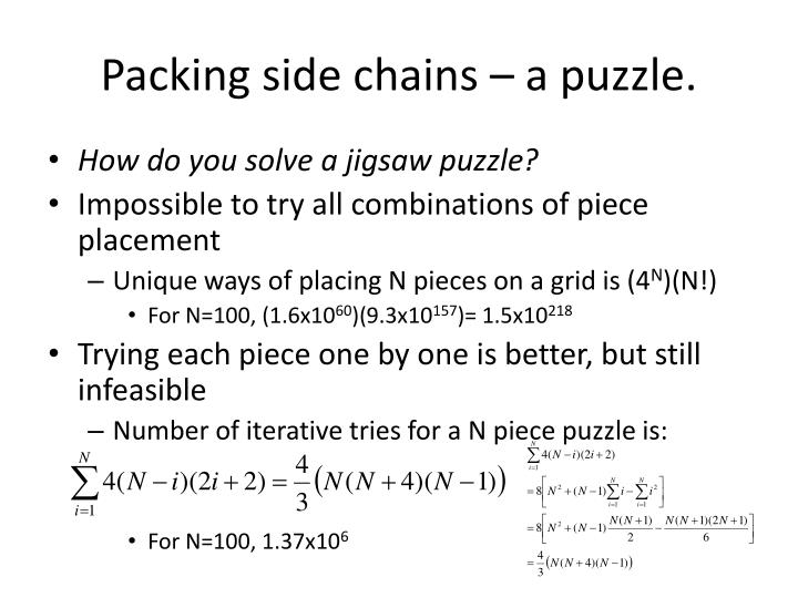 Packing side chains – a puzzle.