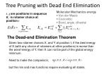 tree pruning with dead end elimination
