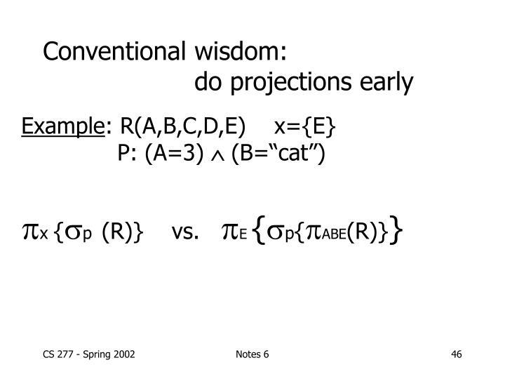 Conventional wisdom: