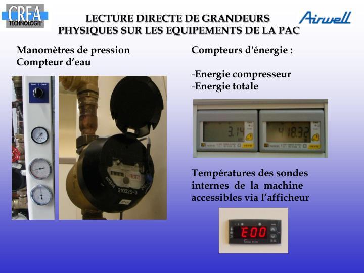 LECTURE DIRECTE DE GRANDEURS