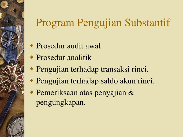 Program Pengujian Substantif