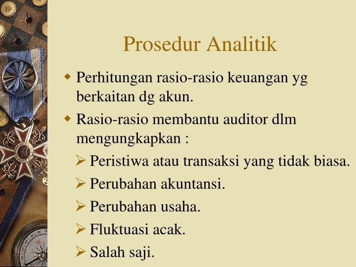 Prosedur Analitik