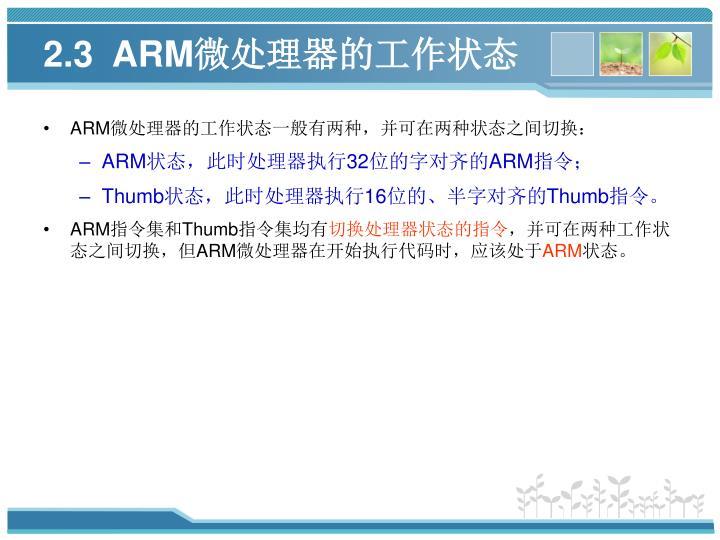 2.3  ARM
