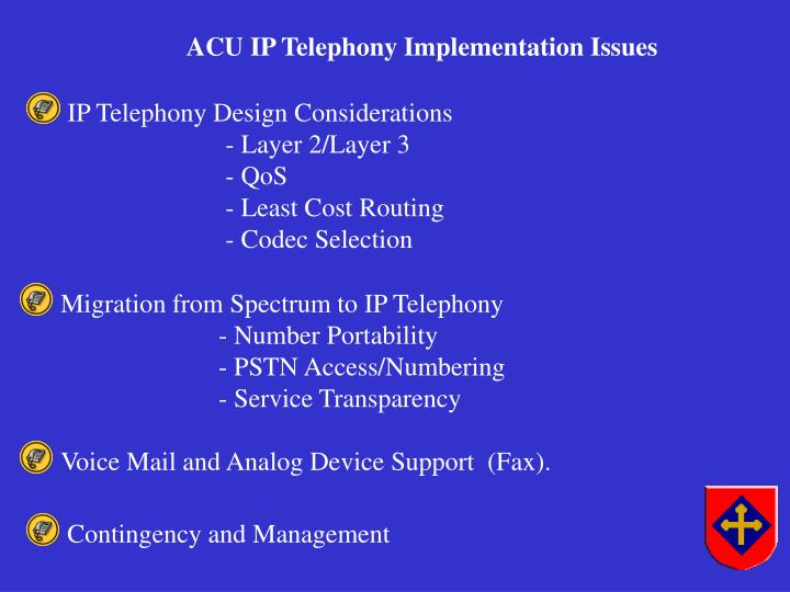 Migration from Spectrum to IP Telephony