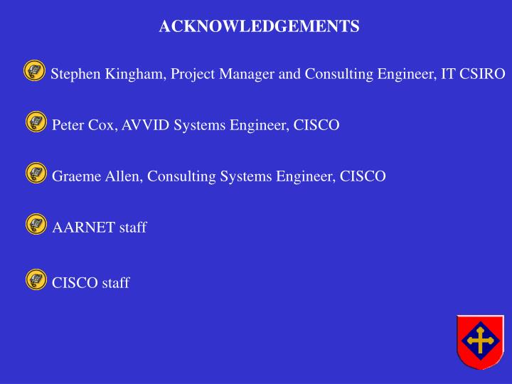 Stephen Kingham, Project Manager and Consulting Engineer, IT CSIRO