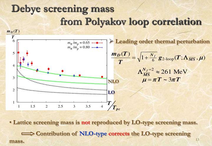 Debye screening mass