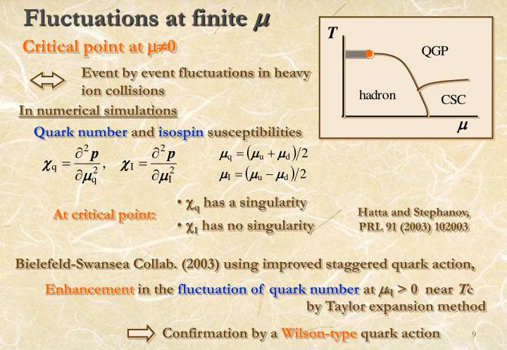 Fluctuations at finite