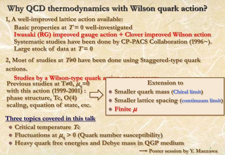 Why qcd thermodynamics with wilson quark action