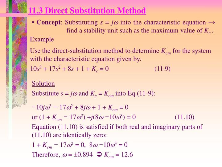11.3 Direct Substitution Method